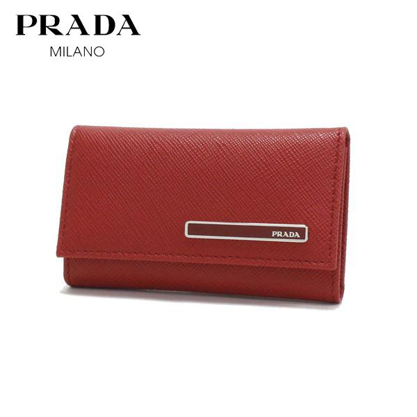プラダ キーケース レディース PRADA key case FUOCO レッド 1PG222 2DAG F068Z 【送料無料♪】