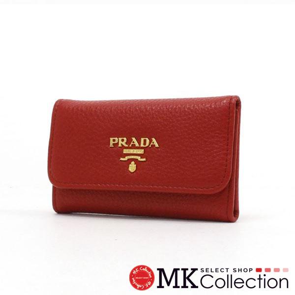 プラダ キーケース レディース PRADA key case  レッド 1PG222 2E3A F0011 【当店全品送料無料♪】