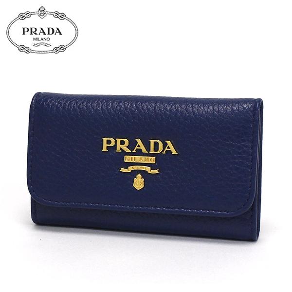 プラダ キーケース レディース PRADA key case VITELLO GRAIN BLUETTE ブルー 1PG222 2E3A F0016 【送料無料♪】