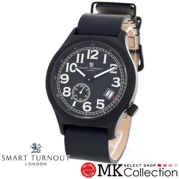 スマートターンアウト 時計 メンズ レディース 国内正規品 SMART TURNOUT ネイビー 腕時計 レザー ナイロン 替えベルト付き STJ007BKNV-RO/20