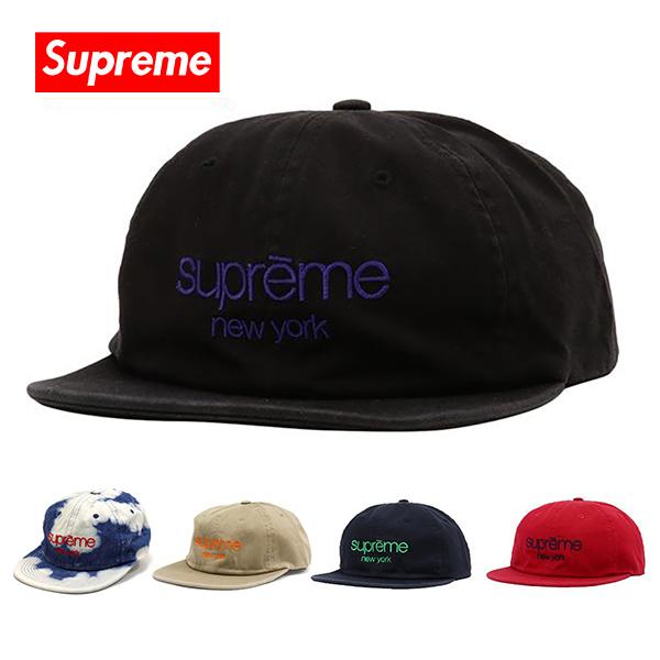 シュプリーム キャップ Supreme 帽子 SUPREME NEW YORK CAP ブラック レッド ネイビー SS16H56 【当店全品送料無料♪】