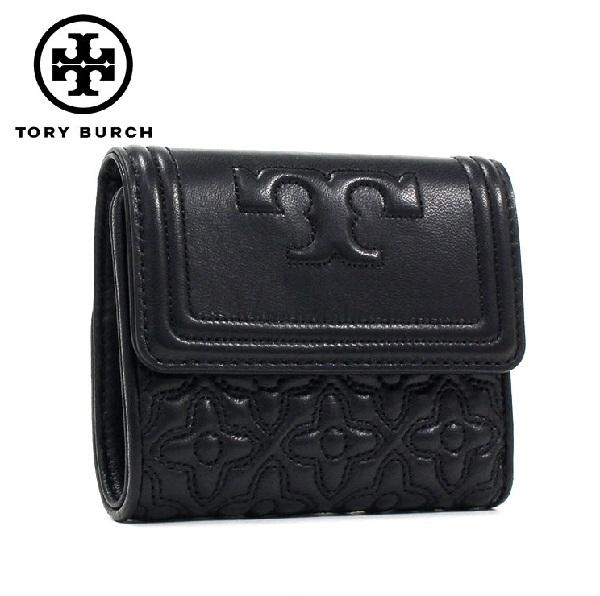 トリーバーチ 三つ折り財布 レディース TORY BURCH Wallet BLACK 46184 001 【当店全品送料無料♪】