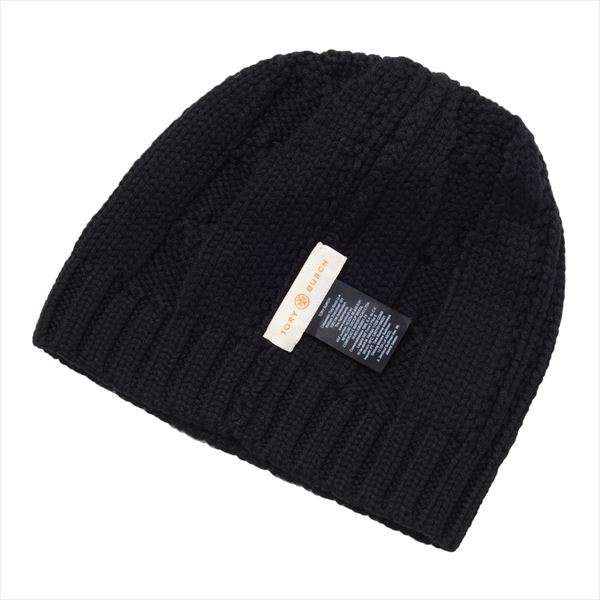 07a7cb545bb MKcollection  Tolly Birch knit hat Lady s TORY BURCH Knit Cap black ...