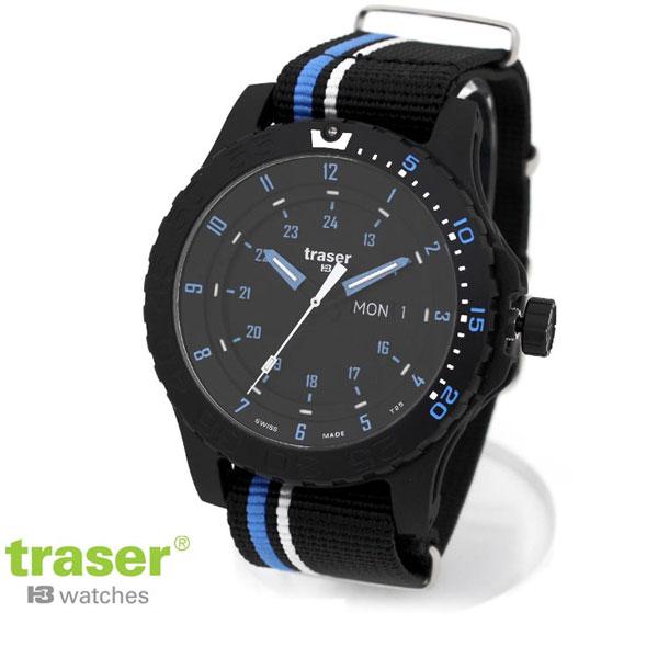 トレーサー 時計 メンズ 国内正規品 TRASER タイプ6 ミル-G スポーツ ブルースピリッツ 腕時計 NATOナイロン MIL-G Blue infinity