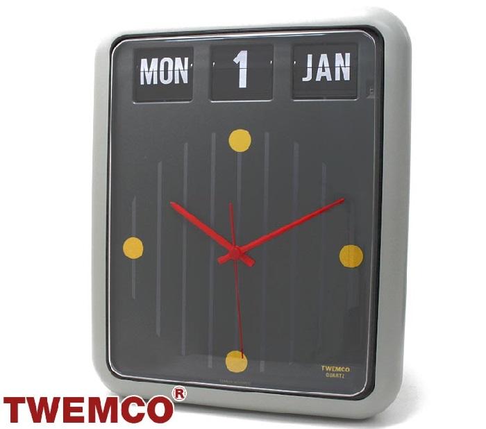 トゥエンコ 置時計インテリア TWEMCO 時計 オシャレ クロック BQ-12 GRAY YELLOW