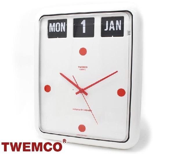 Tenko 时钟内部 TWEMCO 手表时尚时钟 BQ 12 白红 0824年乐天卡拆分器 02P01Oct16