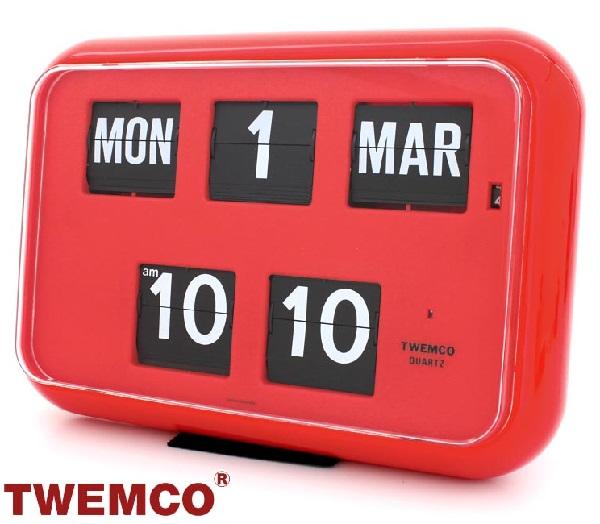 トゥエンコ 置時計 インテリア TWEMCO 時計 オシャレ クロック QD-35 RED