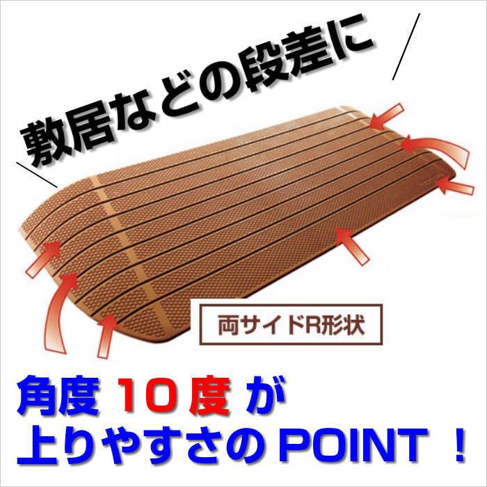 敷居などの段差解消に【段差4.5cm用】ダイヤスロープ 10 DS10・80