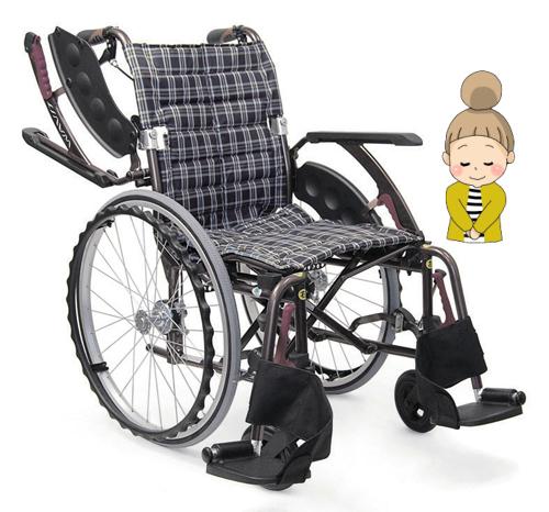 WAVIT+(ウェビットプラス)自走式車椅子 車いす/軽量/折り畳み