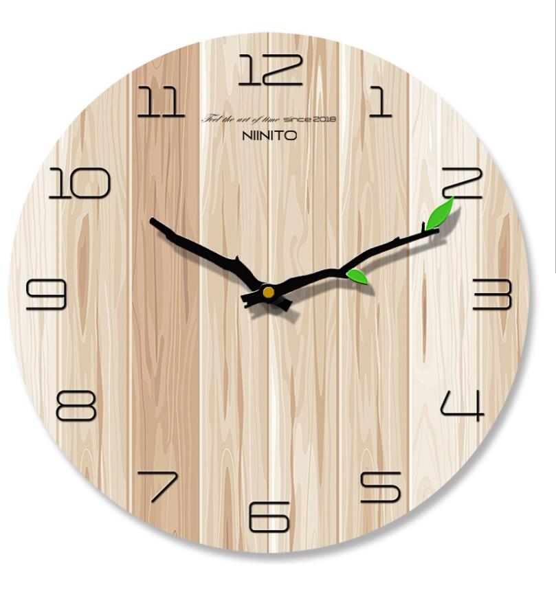 シンプル ナチュラル モダンでおしゃれな壁掛け時計 リビング 寝室 激安格安割引情報満載 事務所などどこでも使えます 壁掛け時計 おしゃれ 掛け時計 待望 デザイナーズ ウォールクロック 静穏 非電波 かわいい 北欧風 縦板木柄