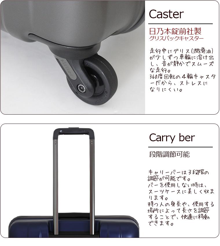 实现最终的轻!保证的shifurezerogura超轻量旅行箱ZER1031-65cm L尺寸大型(7日~长期向)框架类型TSA锁头搭载油脂包解说员免费受托随身行李最大尺寸&1年