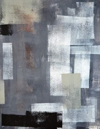 【取寄品】Grey and Green Abstract Art Painting インテリアパネル パネルフレーム IAP51599 キャンバス モダンアート 600×800mm お洒落インテリア通販