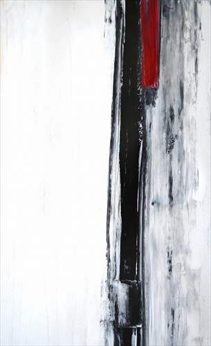 【取寄品】Black and White Abstract Art Painting インテリアパネル パネルフレーム IAP51603 キャンバス モダンアート 530×800mm お洒落インテリア通販
