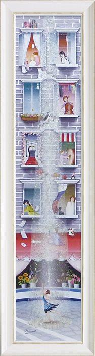 【取寄品】なかの まりの 風景画 額付きポスター はだしの踊り子 L ユーパワー 33×123cm 和洋折衷