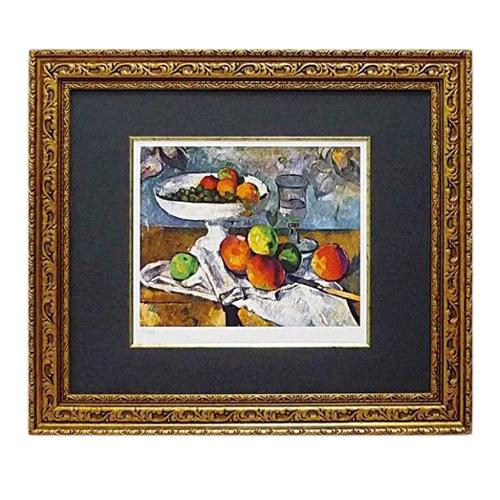 取寄品 ポール セザンヌ 果物ナイフのある静物 額付き ポスター インテリアアート 名画 印象派