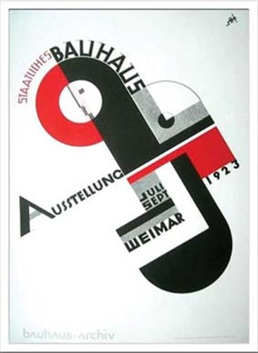 取寄品 Bauhaus バウハウス Weimar Ausstellung 1923 IBH70048 額付グラフィックアートポスター