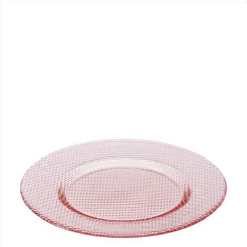 【取寄品】Plate collection プレート KOUSHI 280 3枚セット コーラルピンク アデリア 直径28×2.1cm 丸皿 日本製石塚硝子