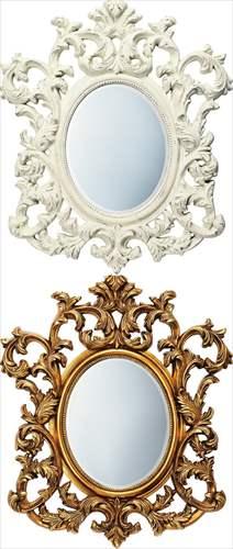 【取寄品】グレース インテリアミラー アートミラー アルゴス ユーパワー 85×100×6cm インテリア鏡 モダングッズ
