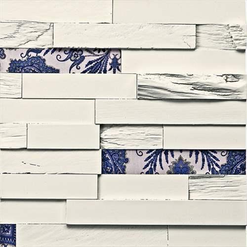 【取寄品】PLADEC プラデック ミッドセンチュリー ウッドクラフトアート ウッド&ファブリック2 ユーパワー 40×40cm ポルトガル製 モダンインテリア
