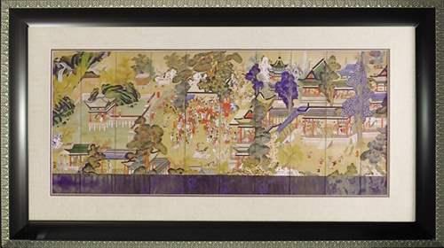 取寄品 和風アート 額付き ポスター 郭子儀の宴 オリエンタル 浮世絵 インテリアグッズ