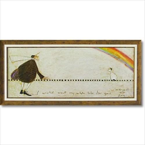 アートフレーム ずっとあなたを待ち続けて 額付き ポスター サム トフト 絵画 ギフト インテリア 雑貨 取寄品 マシュマロポップ