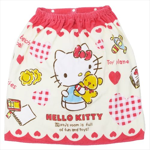 Pop Recreation Article Sea Pool Change Of Clothes Towel Teens Miscellaneous Goods Mail Order Marshmallow In Toy Party Hello Kitty Lap Sanrio