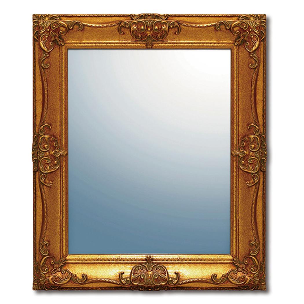 グレース アート ミラー アーサーL(アンティークゴールド) 鏡 55x65x4cm アンティーク インテリアグッズ 取寄品 マシュマロポップ