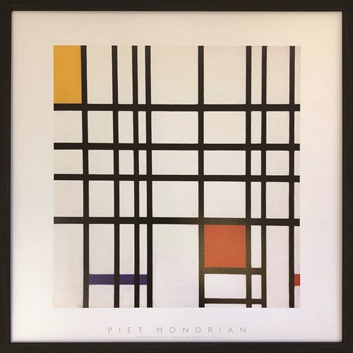 Piet Mondrian Opposition of Lines Red and Yellow ピエト モンドリアン インテリア パネル 美工社 52× 額装品 ギフト  その他 装飾インテリア 取寄品 マシュマロポップ