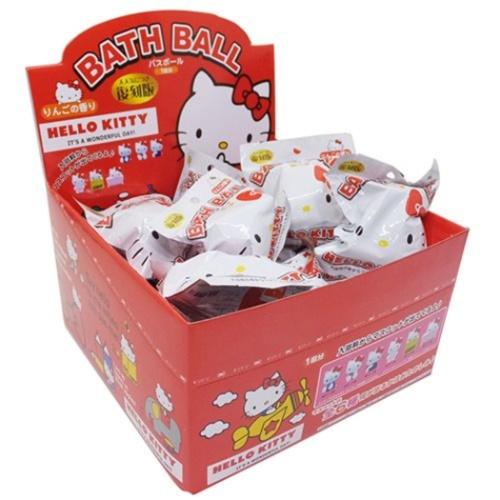 入浴剤 セット マスコット が飛び出る ハローキティ バスボール 24個入BOX サンリオ りんごの香り おもしろ 子供とお風呂 サンタンまとめ買いグッズマシュマロポップ