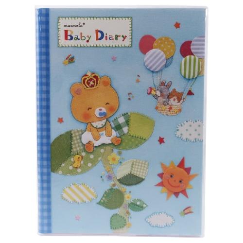 ベビー ダイアリー SUKU-SUKU 祝日 Bear marumelo マルメロ 大幅にプライスダウン B5サイズ 育児日記 出産祝い サイズ 男の子向け 赤ちゃん用品グッ マシュマロポップ オリエンタルベリー 赤ちゃん用品グッズ B5