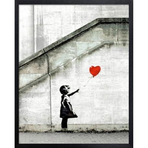 Banksy Red Balloon バンクシー アートフレーム 美工社 IBA-61736 額付き インテリア 取寄品 マシュマロポップ