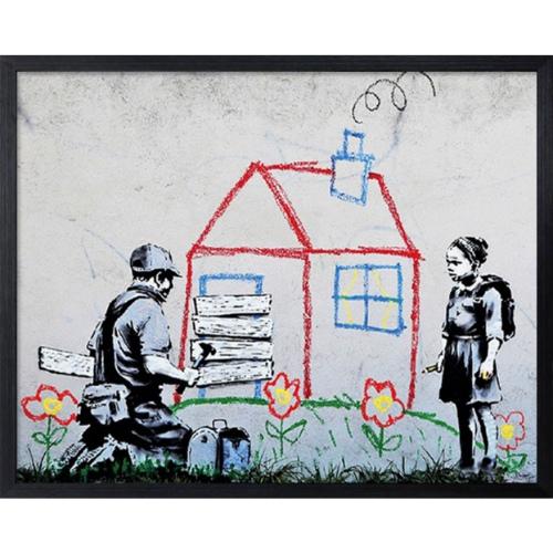 Banksy Playhouse バンクシー アートフレーム 美工社 IBA-61740 額付き インテリア 取寄品 マシュマロポップ