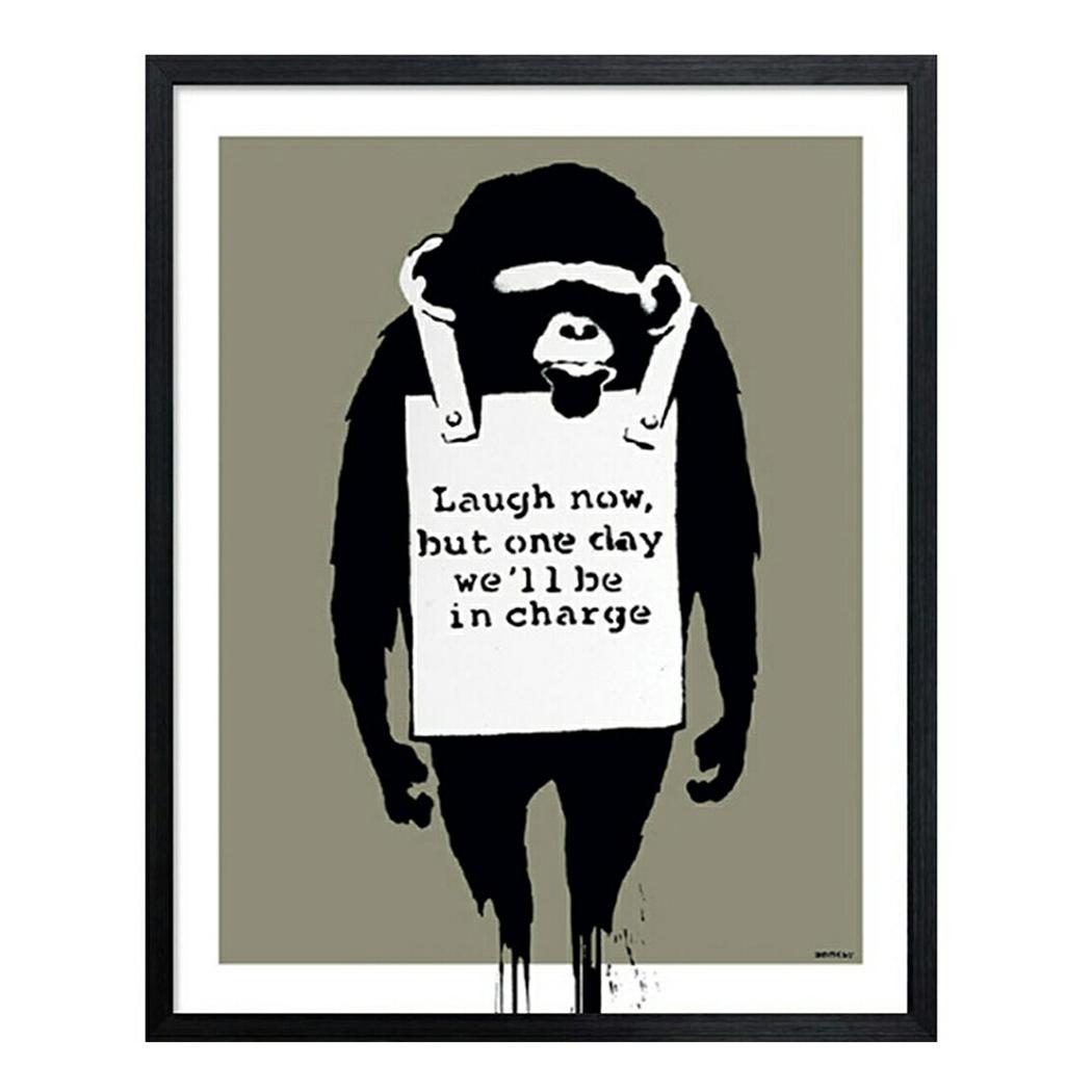 Banksy Laugh Now バンクシー アートフレーム 美工社 IBA-61741 額付き インテリア 取寄品 マシュマロポップ