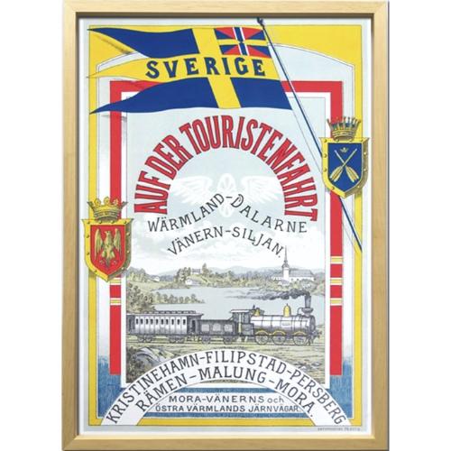 スウェーデン鉄道の旅 1900年初頭 ZCS-52669 Scandinavian Art アートフレーム 美工社 額付き 北欧インテリア 取寄品 マシュマロポップ