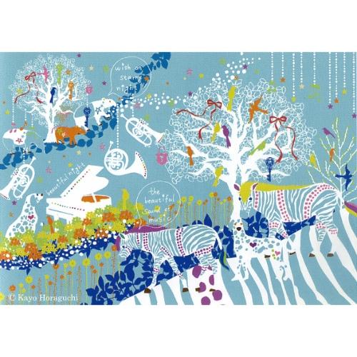 Kayo Horaguchi stary night 1 ホラグチ カヨ インテリア パネル 美工社 ZKH-52555 フレームレス キャンバスアートインテリア 取寄品 マシュマロポップ