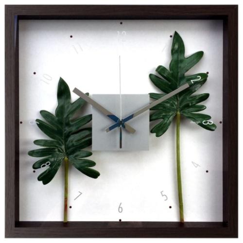 フィロデンドロン クッカバラ CFC-52887 F-style Clock 掛け時計 美工社 ギフト リーフアートインテリア 取寄品 マシュマロポップ