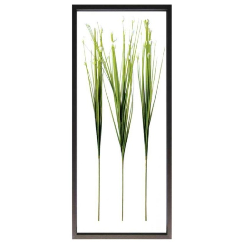 Flower Grass フラワーグラス F-style Frame リーフアートフレーム 美工社 42.5×101.5×3cm 造花 額付き インテリア 取寄品 マシュマロポップ