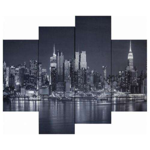 Bello Canvas Art New York Hudson River 4枚セット キャンバスアート 写真 アート 美工社 IPT-61748 フレームレスインテリア 取寄品 マシュマロポップ