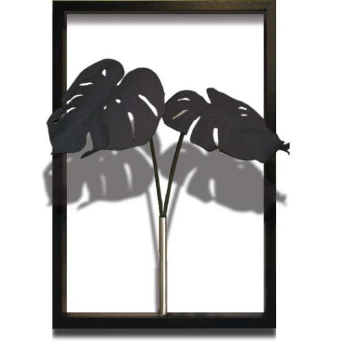 Monstera Deliciosa / Black モンステラ デリシオサ ブラック F-style Tuinie リーフアートフレーム 美工社 ITN-51105 造花 額付き インテリア 取寄品 マシュマロポップ