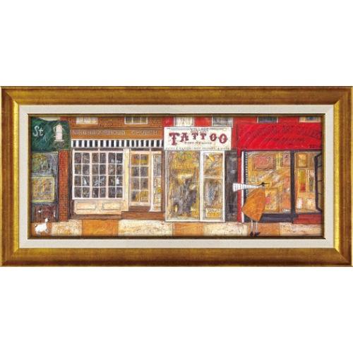 あなたの住む街角で ST-10021 サム トフト アートフレーム 63.5x32.5cm ギフト 絵画 額付き ポスターインテリア 取寄品 マシュマロポップ