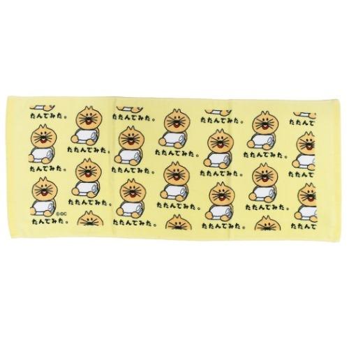 プリント ロングタオル フェイスタオル ヘタクソネコ おえかきシリーズ メール便可 オクタニコーポレーション かわいい 輸入 [再販ご予約限定送料無料] おもしろ雑貨 マシュマロポップ