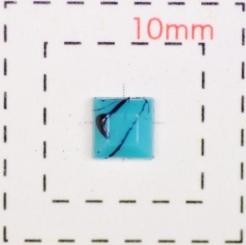 ターコイズライトブルー《石目調 スクエア 正方形 信憑 4ミリ20個入》デコ電 ネイル用ストーン 驚きの価格が実現