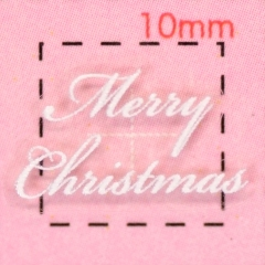 数量限定 Christmasロゴ クリスマス 3Dネイルシール 1シート6枚入 4 スノーホワイト 初売り