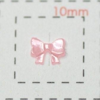 ラブリーリボン(パール)《ネイル用リボンパーツ》(2)5mmピンク0.5g約30個入