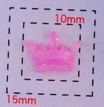爆売り クラウン 王冠 デコ電用プラパーツ》クリアラメピンク10×7ミリ5個入 豪華な 《ネイル