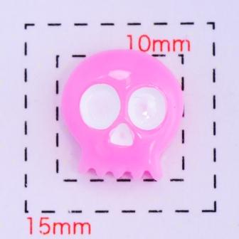 毎日がバーゲンセール 人気の製品 スカル《ネイル デコ電用プラパーツ》10×10ミリ ピンク4個入
