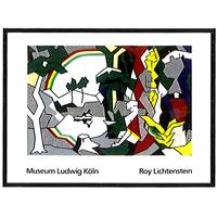 アートポスターRoy Lichtenstein (ロイ・リキテンスタイン)Landscape with Flgures 1980 失敗しないインテリア 年末インテリア