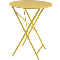 ガーデンテーブル 折りたたみ アウトドアテーブルビストロ ラウンドテーブル60 新生活 気持ち切替スイッチ インテリアコーディネート