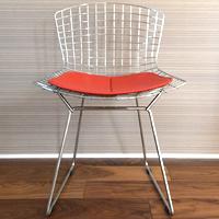 ダイニングチェアハリー・ベルトイアベルトイアチェア 座面:革Cグレード(赤)デザイナーズ家具国内在庫あり 失敗しないインテリア 年末インテリア