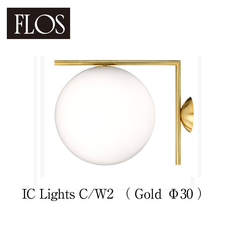 FLOS フロス 送料無料【IC Lights C/W2(Φ30cm gold ゴールド)】シーリング/ウォールランプマイケル・アナスタシアデス 失敗しないインテリア 年末インテリア